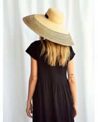 Free People Nomad Oversized Straw Hat By Lola Hats - Natural