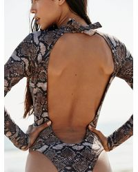 Free People Printed Billie Swimsuit By Abysse - Multicolour