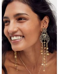 Free People Sweet Nothin's Dangle Earrings - Metallic