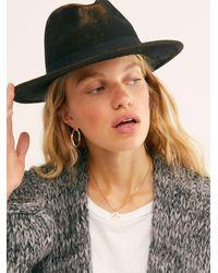 Free People Frankie Distressed Felt Hat - Brown