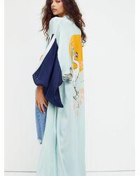 Free People Rising Sun Maxi Kimono - Blue