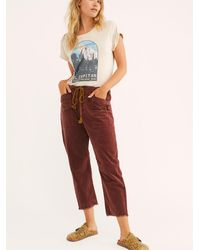 Free People City Slouch Cord Trousers By We The Free - Red