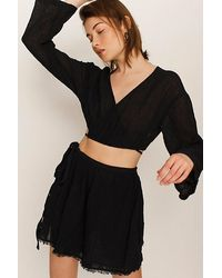 Free People Here She Is Set - Black