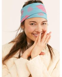 Free People Printed Coalition Neck & Headwrap By Coalition Snow - Multicolour