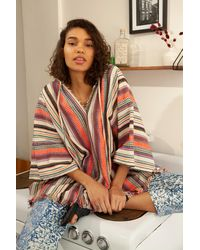 Free People Surfer Girl Hooded Poncho - Multicolour