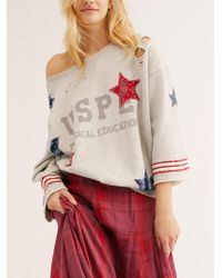 Free People Old Glory Pullover - Gray