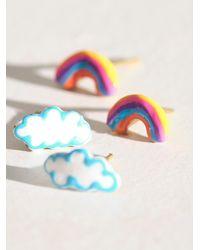 Free People Susan Alexandra Tiny Joy Studs - Multicolour