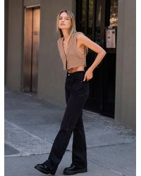 Free People Levi's Ribcage Bootcut Jeans - Black