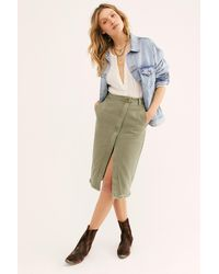 Free People Society Skirt By Oneteaspoon - Multicolour