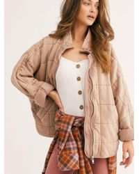 Free People Dolman Quilted Knit Jacket - Multicolour