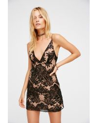 Free People - Night Shimmers Mini Dress - Lyst