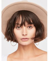 Free People - Wythe Leather Band Felt Hat - Lyst