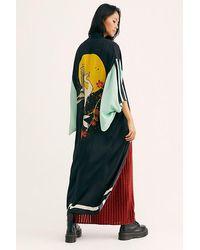 Free People Rising Sun Maxi Kimono - Black