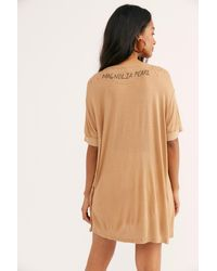 Free People Cotton Boyfriend Henley Tee By Magnolia Pearl - Multicolour