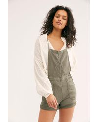 Free People Natural Sights Linen Shortall - Multicolour
