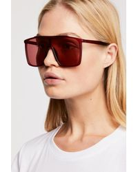 Free People - Bright Eyes Shield Sunglasses - Lyst
