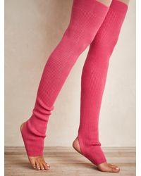 Free People Veggie Cashmere Legwarmers - Pink