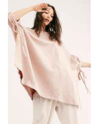 Free People Ready Set Relax Poncho By Fp Beach - Pink