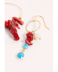 Free People Coral Branch Earrings By Ayana Designs - Multicolor
