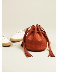 Free People East Street Mini Bucket Bag - Brown