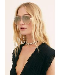 Free People Happy Day Aviator Sunglasses - Blue