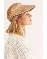 Free People Island Hopper Speckled Straw Visor By Beachgold - Brown