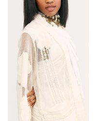 Free People Island Vibes Cutwork Kimono By Nfc - Natural