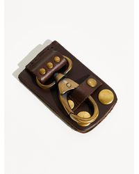 Free People We The Free Snapped Keyring - Brown