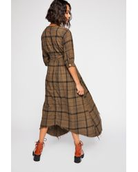 Free People - Laura Plaid Midi Dress By Cp Shades - Lyst