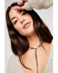 Free People - Chloe Crystal Bolo Necklace - Lyst