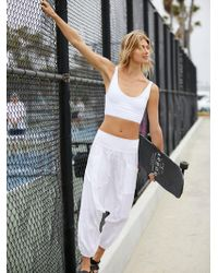 Free People Give Your All Harem Pant By Fp Movement - White