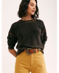 Free People Break Of Dawn Washed Cashmere Sweater - Orange