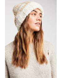 Free People - Freestyle Plaid Beanie - Lyst