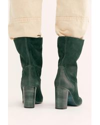 Free People Dakota Heel Boots By Fp Collection - Green