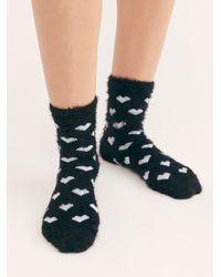 Free People Queen Of Hearts Crew Sock - Black