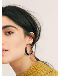 Free People - Isla Side Hoop Earring By Machete - Lyst