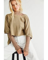 Free People Cc Tee By At Free People, Tropical Nut, M - Multicolour