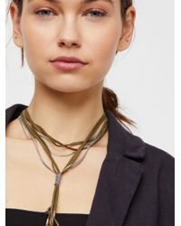 Free People - Gilded Chain Bolo Necklace - Lyst