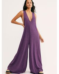 Free People Fulton Jumpsuit By Fp Beach - Purple