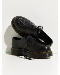 Free People Dr. Martens 1461 Bex Woven Oxfords - Black