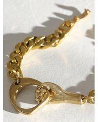 Free People Watersandstone Hold Tight Bracelet - Metallic
