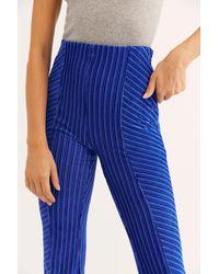 Free People Slim Pull-on Velvet Flare Pants - Blue