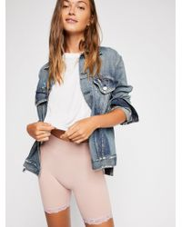 Free People Seamless Lace Bike Short By Intimately