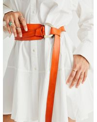 Free People Waltz Waist Belt - Orange