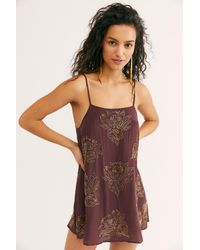 Free People In Full Bloom Embellished Slip By Intimately - Multicolour