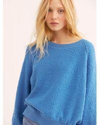 Free People Found My Friend Sweatshirt - Blue