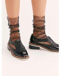 Free People Crystal Mesh Socks By Lirika Matoshi - Black