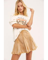 Free People Lived In Love Mini Skirt - Multicolour