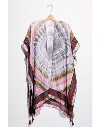 Free People Desert Sun Tie Dye Kimono - Pink