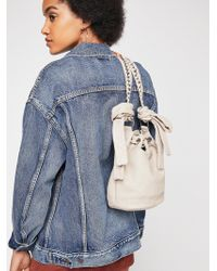 Free People - Holly Bow Bucket Bag - Lyst